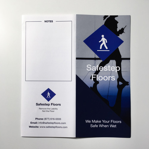Front and Back of Brochure